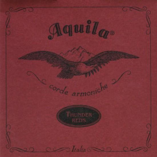 Aquila  91U Set di corde per Ukulele Basso e Ashbory 4 Corde - Serie THUNDER-REDS® -