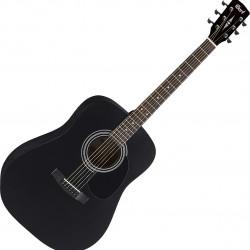 Cort AD810 Black Satin - Chitarra acustica con borsa