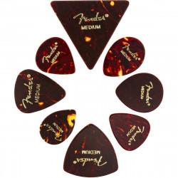 Fender All Shapes Celluloid Medley Tortoise Shell Medium, 8-pack 0980200300