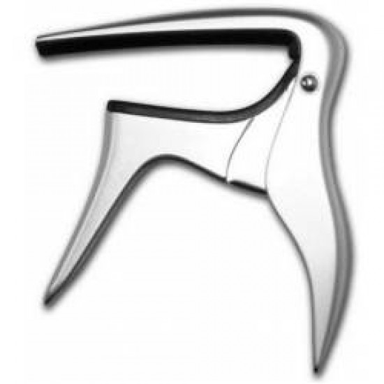 BEST MUSIC B-BIRD ACOUSTIC & ELECTRIC CAPO SILVER