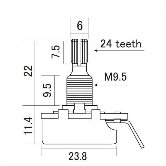 CTS Potenziometro 500K Audio/Log. - Regular Shaft