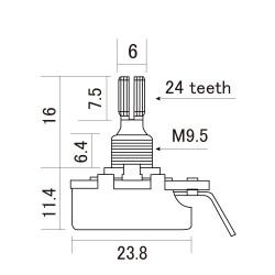 CTS-A500S Potenziometro 500K Audio/Log. - Short Shaft