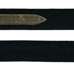 Steph CTW-1857 BK Tracolla in Cotone con inserto in Pelle - Nera
