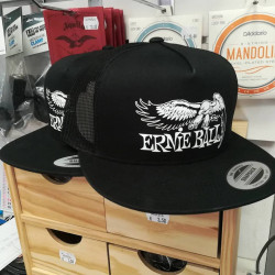 Ernie Ball 4158 Hat Black w/Eagle White EB Logo