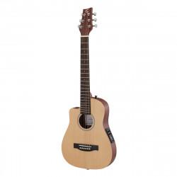 Soundsation Companera-DNCE-LH Travel Acoustic Electrified Guitar Left-Handed w/Bag