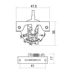 Hosco DM-30 G - Selettore 3 posizioni per chitarra tipo Strato/Tele - Cromato