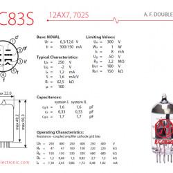 JJ Electronic  ECC83S (12AX7) Valvola Pre