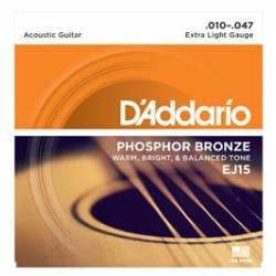 D'ADDARIO EJ26 ACOUSTIC GUITAR STRINGS SET 10-47