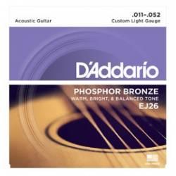 D'ADDARIO EJ26 ACOUSTIC GUITAR STRINGS SET 11-52