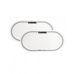 EVANS EQ-PC2 DRUM PATCH DOUBLE PEDAL WHITE 2 PIECES