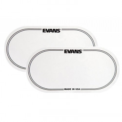 EVANS EQ-PC2 DRUM PATCH DOUBLE PEDAL WHITE 2 PIECES