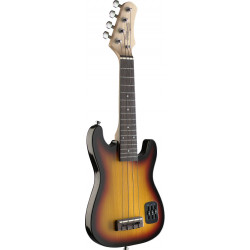Stagg EUK S-SB Ukulele elettrico Stratocaster Style con Borsa