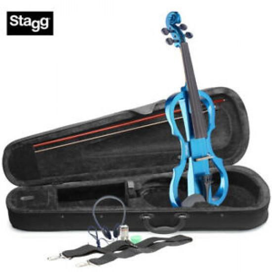 Stagg EVN 4/4 MBL Violino elettrico con astuccio e archetto