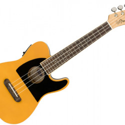 FENDER FULLERTON TELE UKE UKULELE ELECTRIFIED BUTTERSCOTCH BLONDE