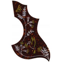 All Parts  - Battipenna adesivo per acustica tipo Hummingbird - Tartarugato con decoro -