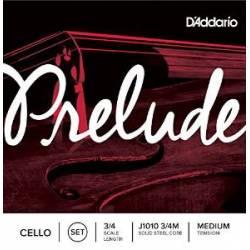 D'Addario Prelude J1010 Cello Strings Set 3/4 Medium