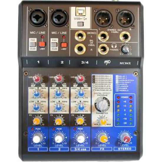 MP Audio MC04X Mixer W/DSP