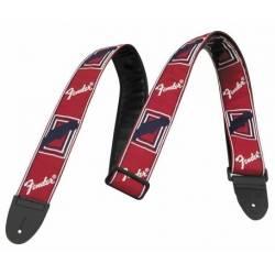 Fender Strap Monogrammed Red-White-Blue