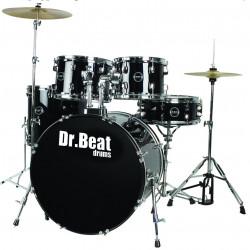 Dr.Beat Drums Beat One 522 Master Black Sparkle - Batteria completa