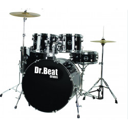 Dr.Beat Drums Beat One 522 Master Black Sparkle - Batteria completa
