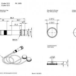 Schaller OYSTER DS Doppio pick up per chitarra acustica montaggio interno con presa jack -