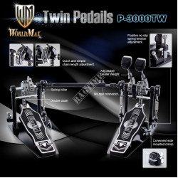WORLDMAX P3000TWS DRUM PEDAL DOUBLE