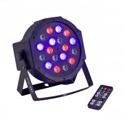 SOUNDSATION PAR-181R PROIETTORE LED 18X1W 6R 6G 6B CON TELECOMANDO