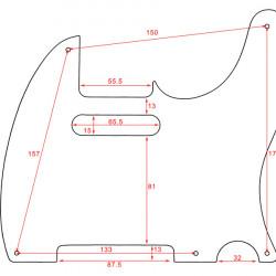 All Parts PG-0560-025 Battipenna per chitarra elettrica tipo Tele - Bianco