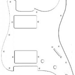 All Parts PG-9595-035 Battipenna per chitarra elettrica tipo Strato HH - Bianco