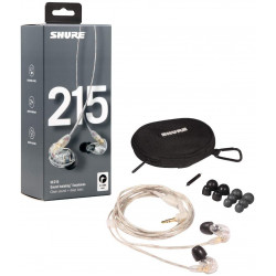 Shure SE215 Headphones In-Ear Clear