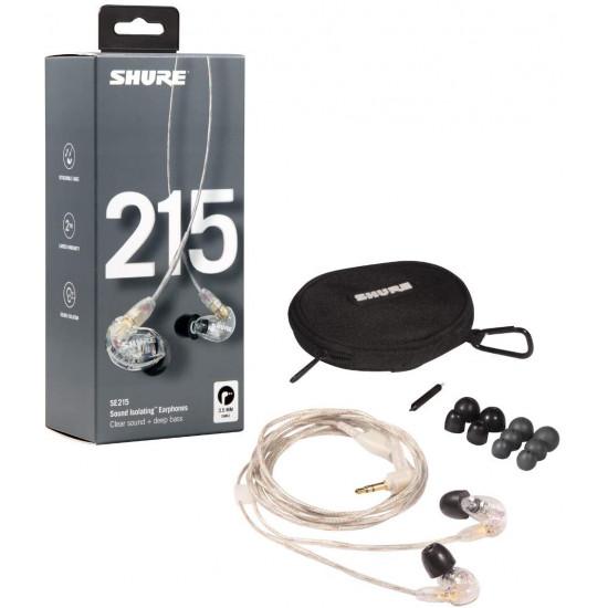 Shure SE215 Headphones In-Ear Clear