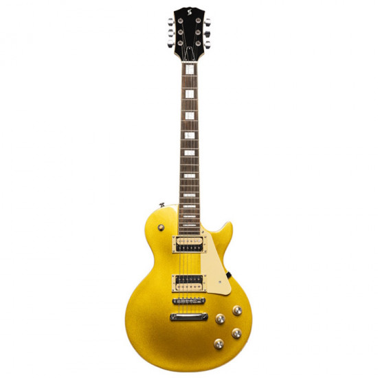 Stagg SEL-STD GOLD Chitarra Elettrica Les Paul Style - Gold Top