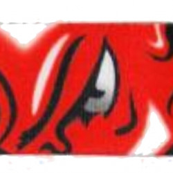 Music Gallery Tracolla stampata in Poliestere - Diavolo
