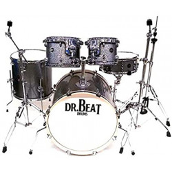 Dr.Beat Drums Beat Two 522 Master- New Edition - Silver Sparkle - Batteria completa