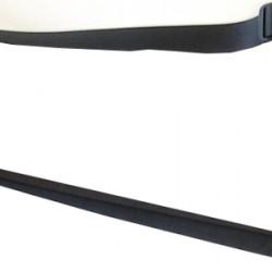 Steph UKL31 BLACK Tracolla split leather larga 30mm - attacco alla paletta - Ideale per ukulele